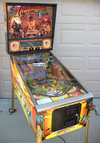 Indiana Jones pinball cabinet