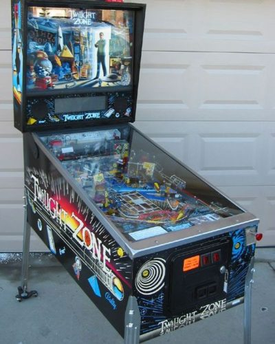 Twlight Zone pinball cabinet