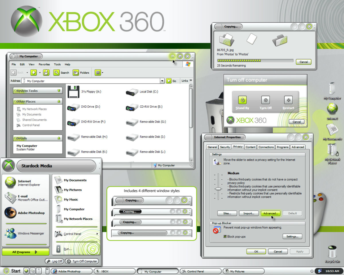 Xbox 360 theme for Windows