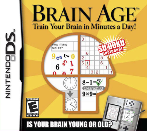 Brain Age for Nintendo DS box cover art