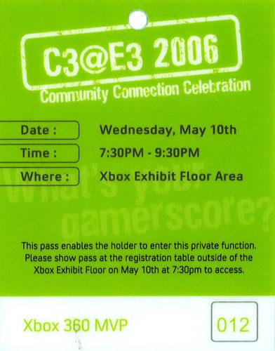 Xbox C3@E3 2006 pass
