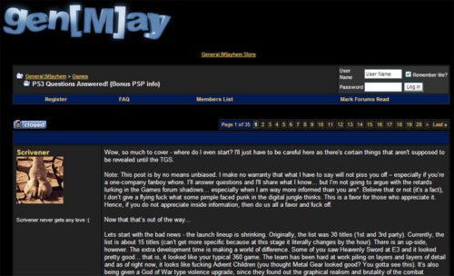 General Mayhem forum screenshot