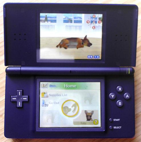Nintendo DS Lite interior in enamel navy