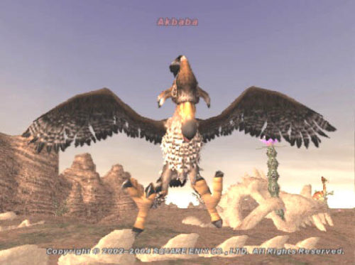 Akbaba mob from Final Fantasy XI FFXI